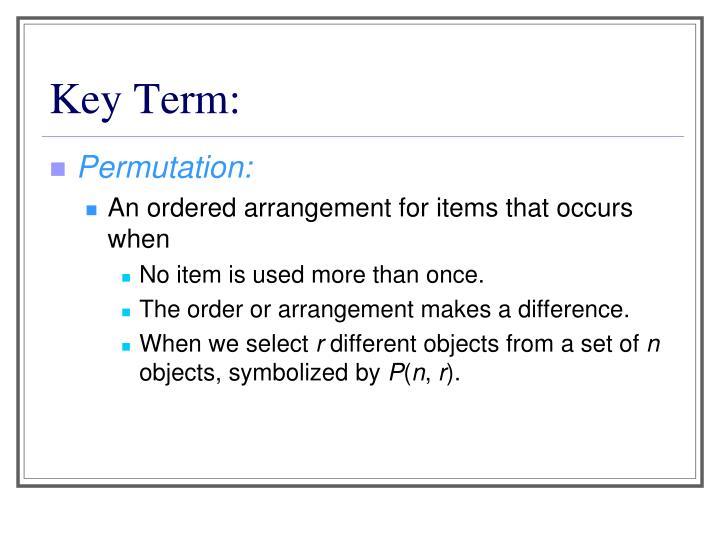 Key Term: