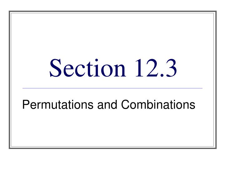 Section 12 3