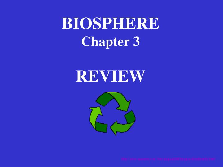 biosphere chapter 3 review n.