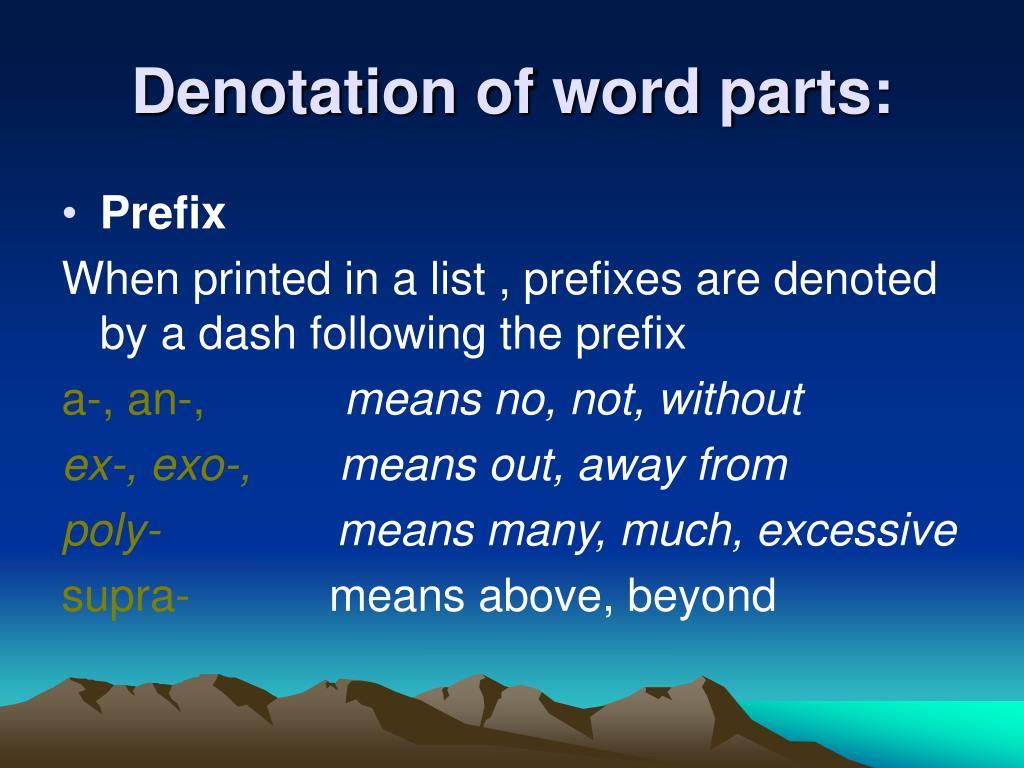 words that prefix exo