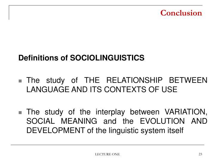what is sociolinguistics definition