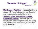 elements of support continued2