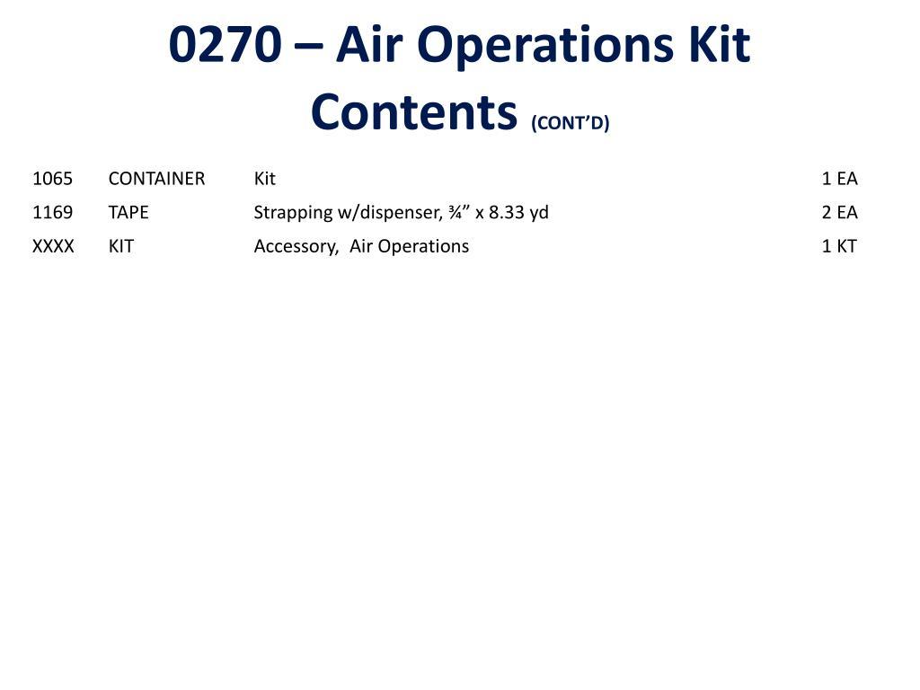 0270 – Air Operations Kit