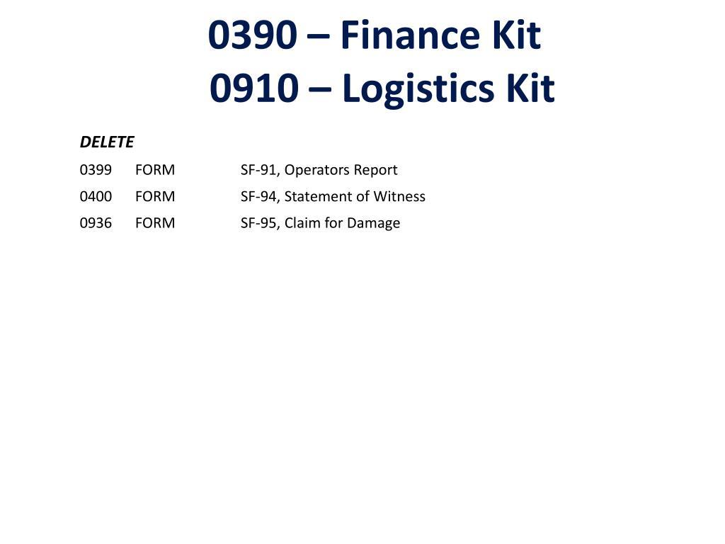 0390 – Finance Kit