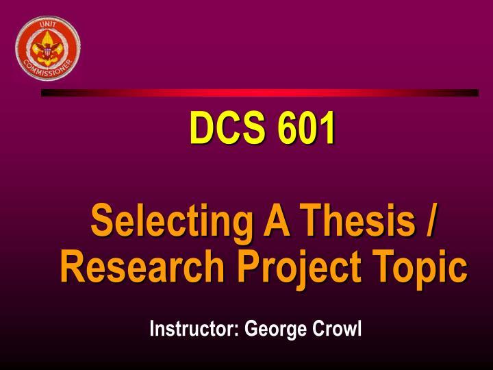 DCS 601