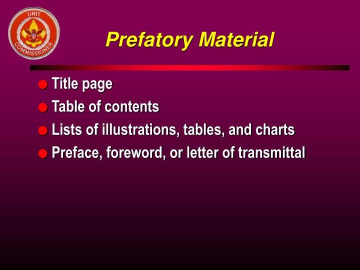 Prefatory Material