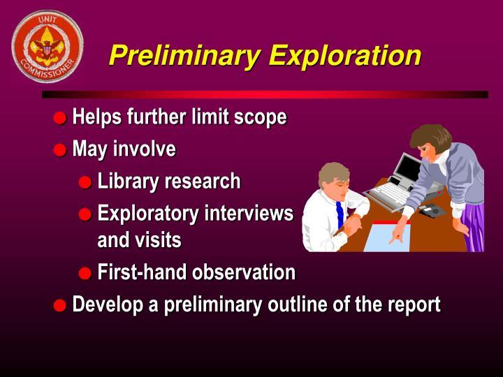 Preliminary Exploration