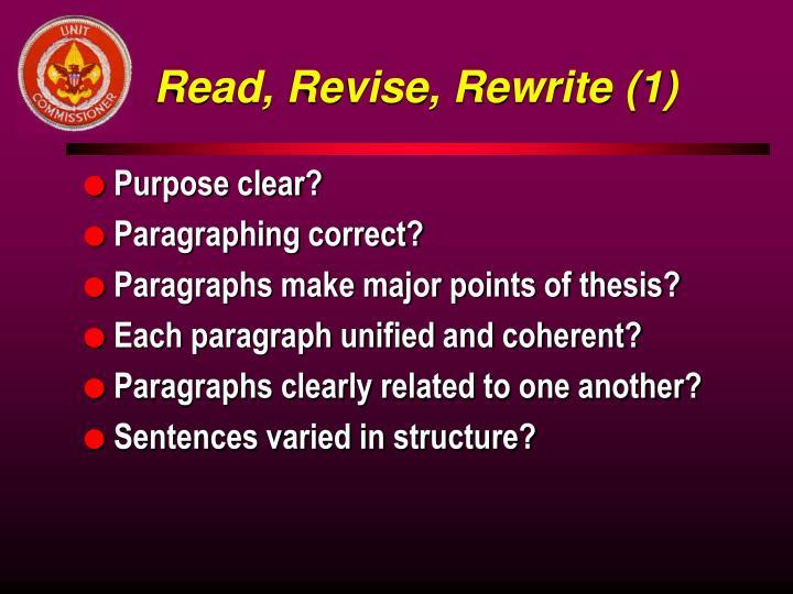 Read, Revise, Rewrite (1)
