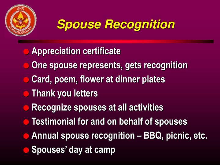 Spouse Recognition