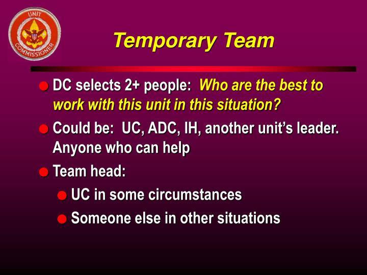 Temporary Team