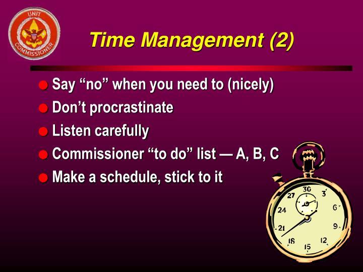 Time Management (2)