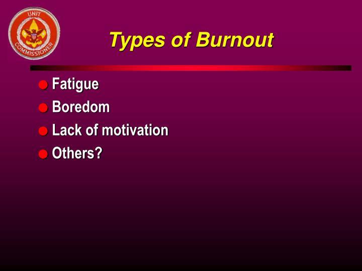 Types of Burnout