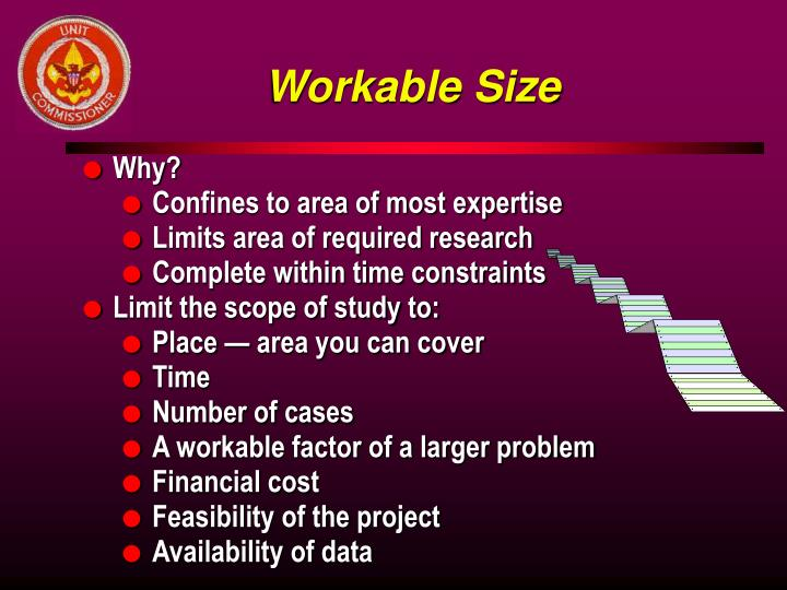 Workable Size