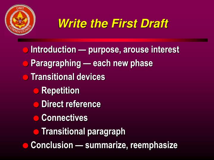 Write the First Draft