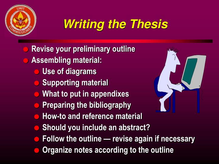 Writing the Thesis