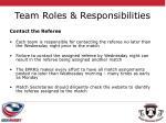 team roles responsibilities