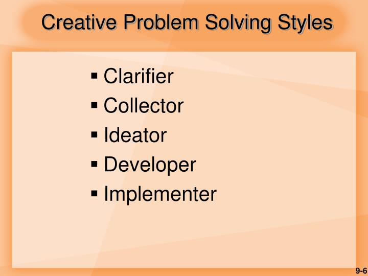 Creative Problem Solving Styles