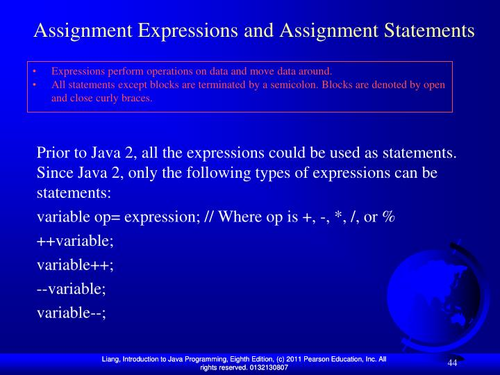 Assignment Expressions and Assignment Statements
