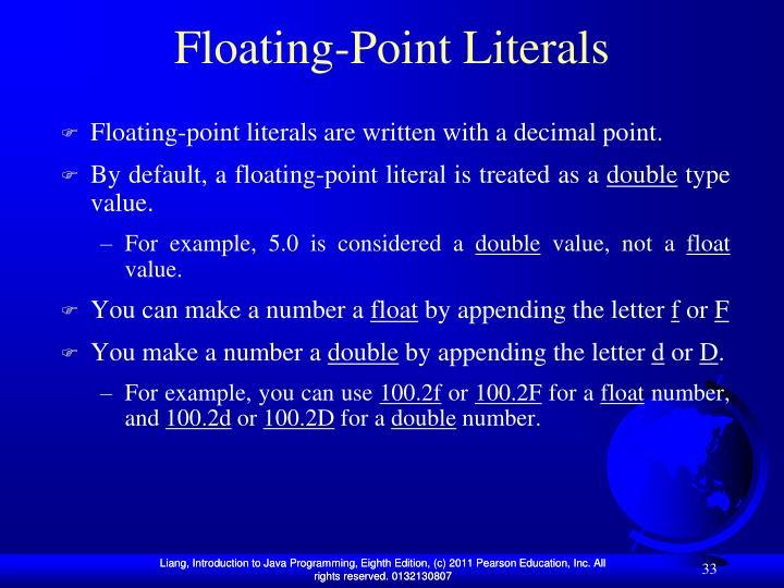 Floating-Point Literals