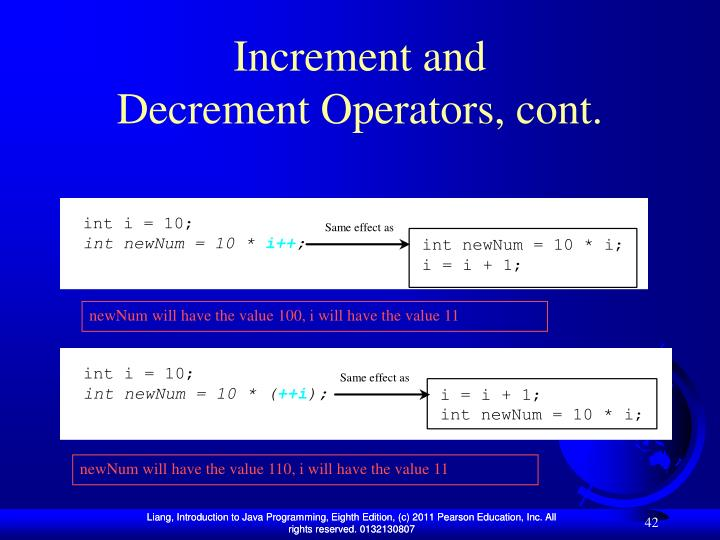 Increment and
