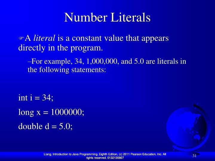 Number Literals