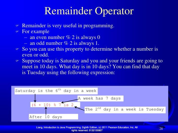 Remainder Operator