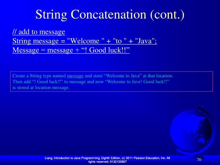 String Concatenation (cont.)