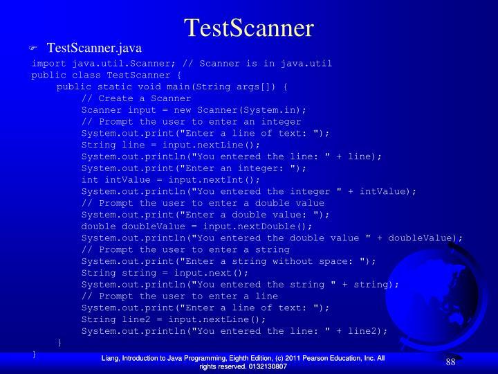 TestScanner