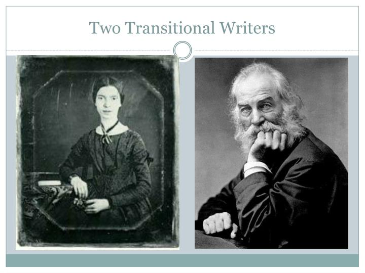 emily dickinson walt whitman Walt whitman, franklin evans, or the inebriate: a tale of the times  away in  books: the life of emily dickinson, in this fall's dickinson and whitman seminar.