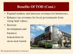 benefits of tod cont1