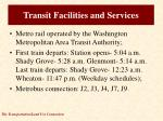 transit facilities and services1