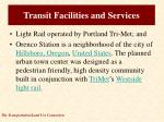 transit facilities and services2