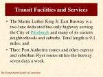 transit facilities and services3