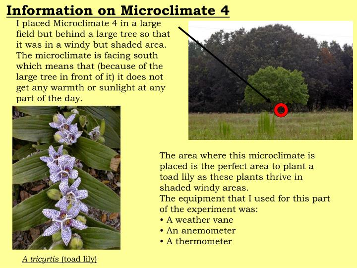 Information on Microclimate 4