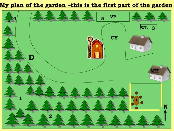 My plan of the garden –this is the first part of the garden