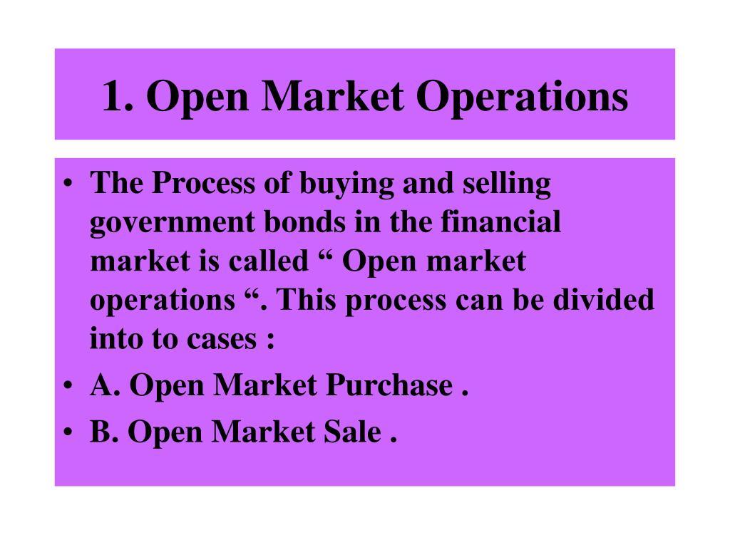 1. Open Market Operations