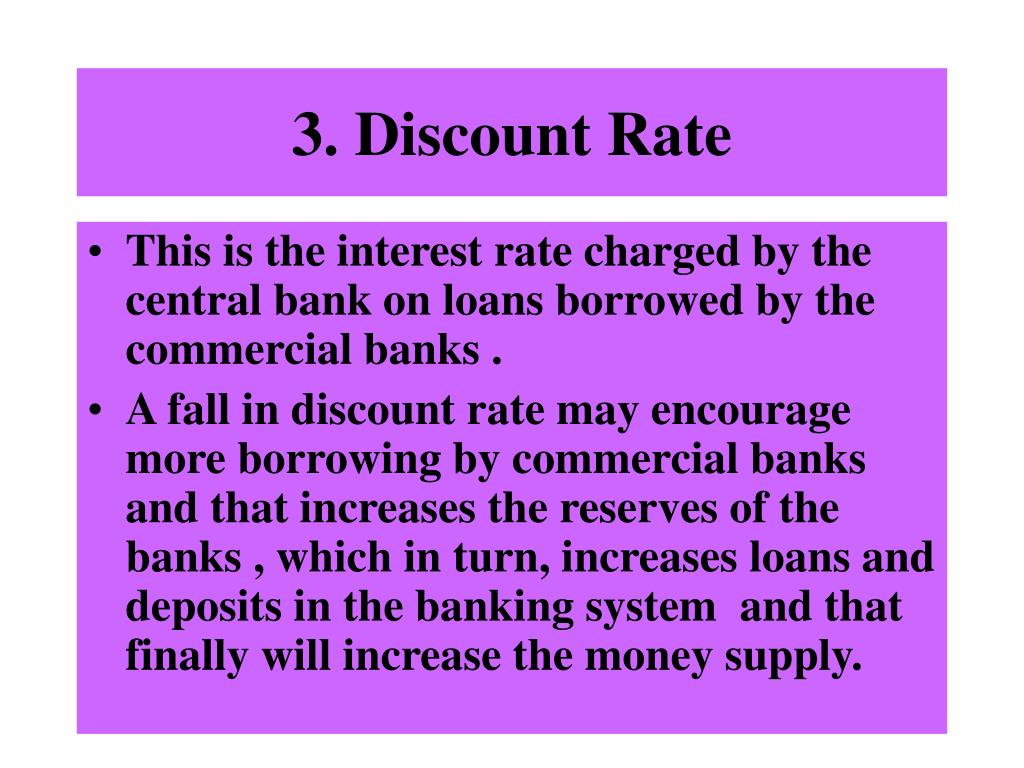 3. Discount Rate