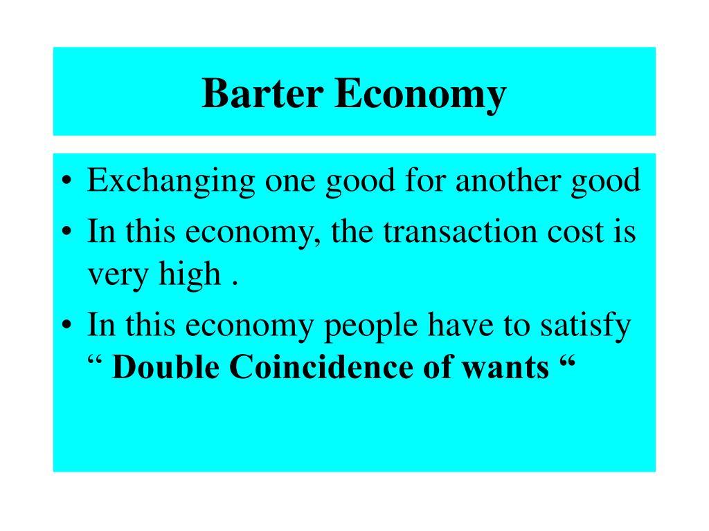 Barter Economy