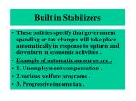 built in stabilizers