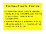 economic growth continue