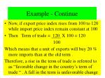 example continue