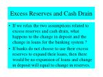 excess reserves and cash drain