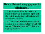 how a recessionary gap can be eliminated