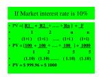 if market interest rate is 10