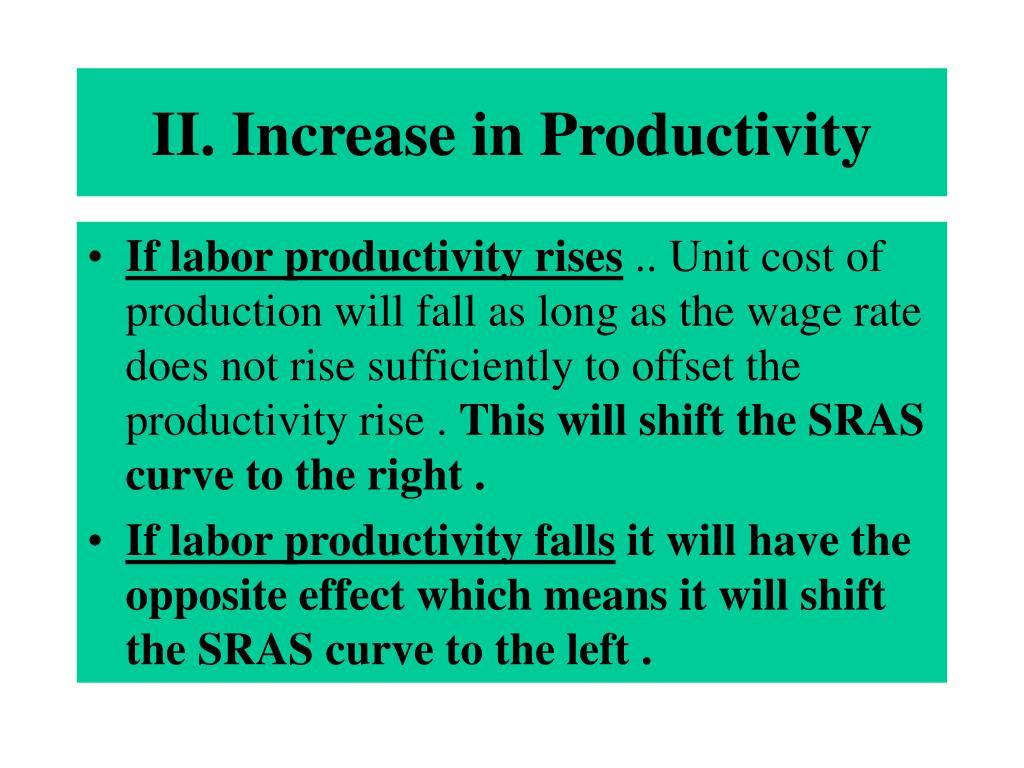 II. Increase in Productivity