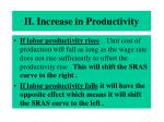 ii increase in productivity