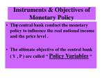 instruments objectives of monetary policy