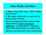 inter bank activities