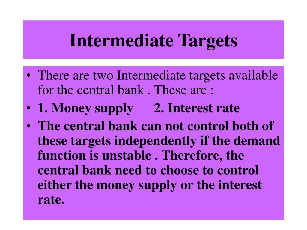 Intermediate Targets