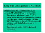 long run consequences of ad shock